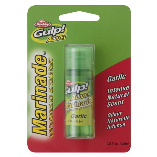 Gulp! Alive! Marinade Attractant - Garlic Scent-Flavor, 1-2 oz Bottle
