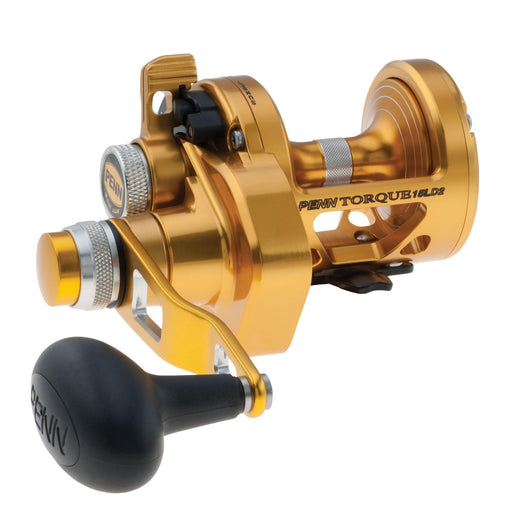 "Torque Lever Drag 2 Speed Conventional Reel - 15, 6.0:1-2.8:1 Gear Ratio, 30""-14"" Line Retrieve, 6 Bearings, Right Hand"