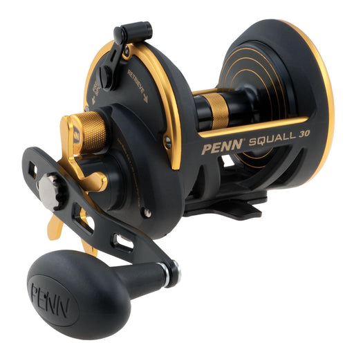 "Squall Star Drag Conventional Reel - 30, 6.0:1 Gear Ratio, 40"" Line Retrieve, 20 lb Max Drag, 7 Bearings, Right Hand"