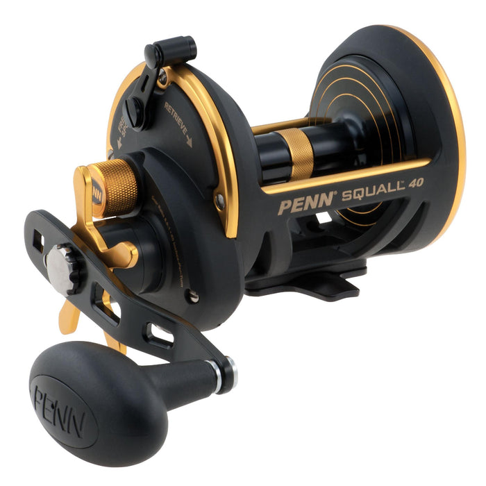 "Squall Star Drag Conventional Reel - 40, 6.0:1 Gear Ratio, 40"" Line Retrieve, 20 lb Max Drag, 7 Bearings, Right Hand"