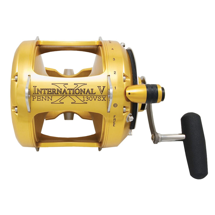 "International VSX 2 Speed Conventional Reel - 2.2:1 Gear Ratio, 38"" Line Retrieve, 100 Nax Drag, 6 Bearings, Right Hand"