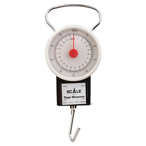 Eagle Claw Scale w-Tape Measure - 50 lb, Dial