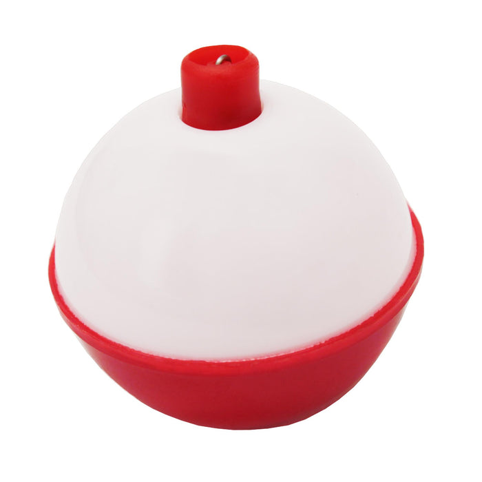 "Snap-On Round Floats - Red-White, Size 1"", Bulk"