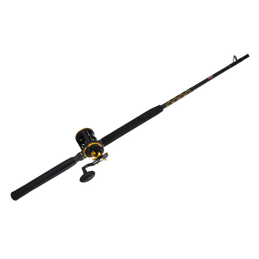 Squall Level Wind Conventional Combo - 20, 4.9:1 Gear Ratio, 6' Length, 1Piece Rod, 20-30 lb Line Rate, Medium Power