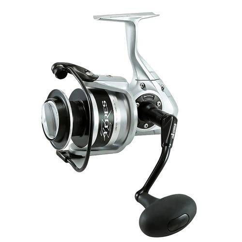 Okuma Azores Spinning Reel - 65, 5.4:14 Gear Ratio, 6BB + 1RB Bearings, 44 lb Max Drag, Right Hand