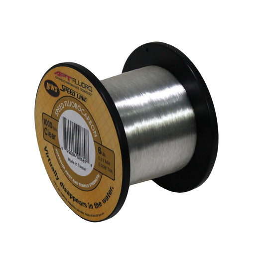 APT Fluorocarbon Speed Line - 6 lbs, 1000 Yards, Transparent Clear