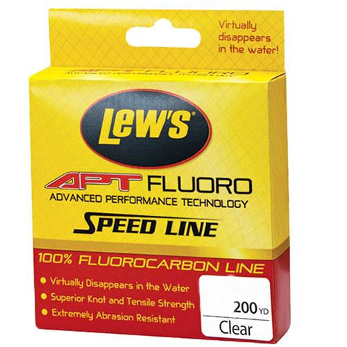 Lew's APT Fluorocarbon Speed Line - 25 lbs, 200 Yards, Transparent Clear