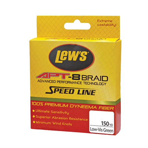 APT-8 Braid Speed Line - 50 lbs, 150 Yards, Low-Vis Green