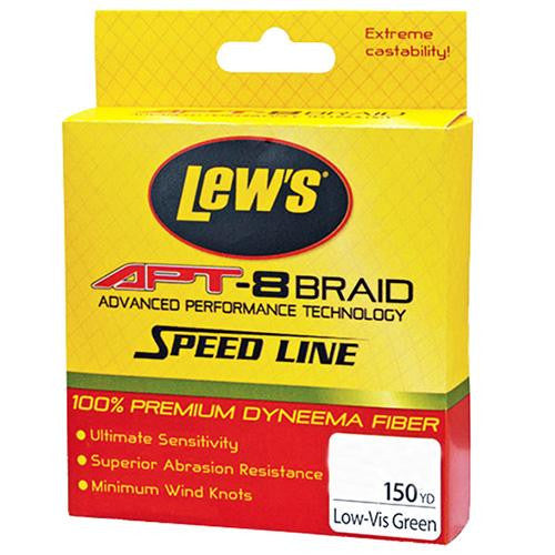 Lew's APT-8 Braid Speed Line - 20 lbs, 150 Yards, Low-Vis Green