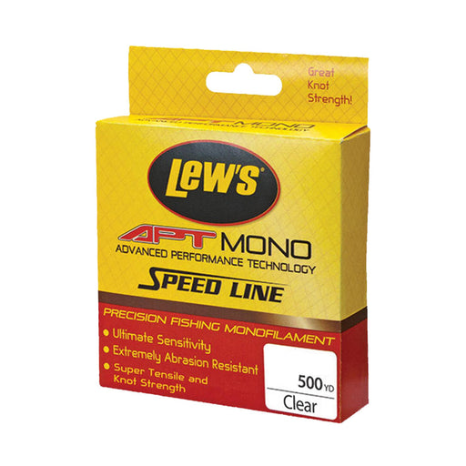 APT Monofilament Speed Line - 10 lbs, 500 Yards, Clear