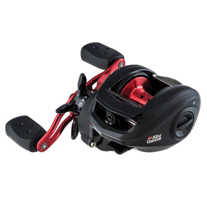 "Black Max Low Profile Reel - 6.4:1 Gear Ratio, 5 Bearings, 26"" Retrieve Rate, 18lb Max Drag, RH, Clam Package"