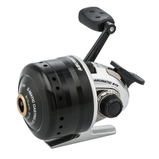 "Abumatic STX Spincast Reel - 3.6:1 Gear Ratio, 4 Bearings, 23"" Retrieve Rate 8lb Max Drag, Ambidextrous, Clam"