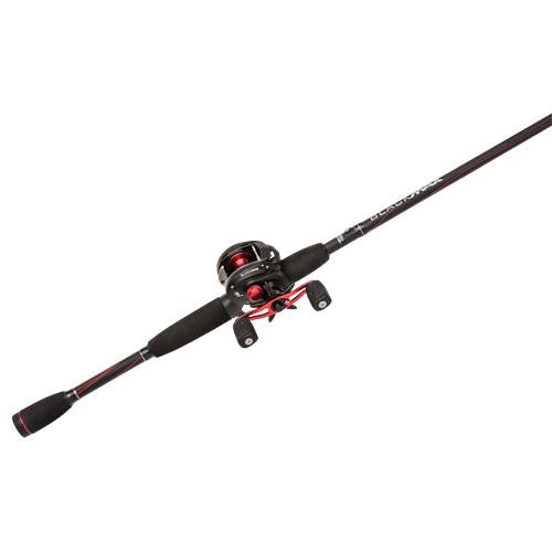 "Abu Garcia Black Max Baitcast Low Profile Combo - 6.4:1 Gear Ratio. 5 Bearings, 6'6"" 1pc Rod, 8-15 lb Line Rate, Medium Power, RH"