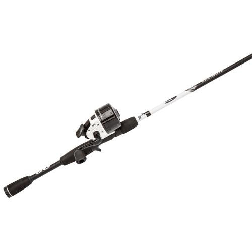 "Abu Garcia Abumatic S Spincast Combo - 15, 4.3:1 Gear Ratio. 2 Bearings, 6'6"" 2pc Rod, 8-14 lb Line Rate, Ambidextrous"