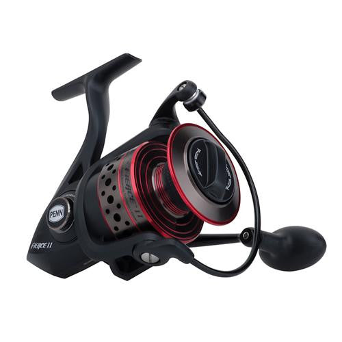 Penn Fierce II Spinning Reel - 6000, 5.6:1 Gear Ratio, 5 Bearings, 20 lb Max Drag, Ambidextrous, Boxed