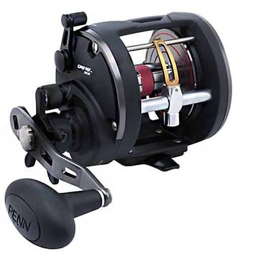 "Penn Warfare Level Wind Conventional Reel - 30, 3.9:1 Gear Ratio, 27"" Retrieve Rate, , 15 lb Max Drag, Right Hand, Clam Pack"