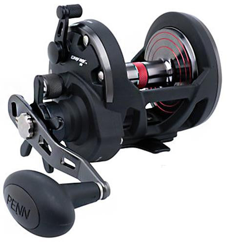 "Penn Warfare Star Drag Conventional Reel - 30, 5.1:1 Gear Ratio, 34"" Retrieve Rate, 15 Max Drag, Ambidextrous, Clam Package"