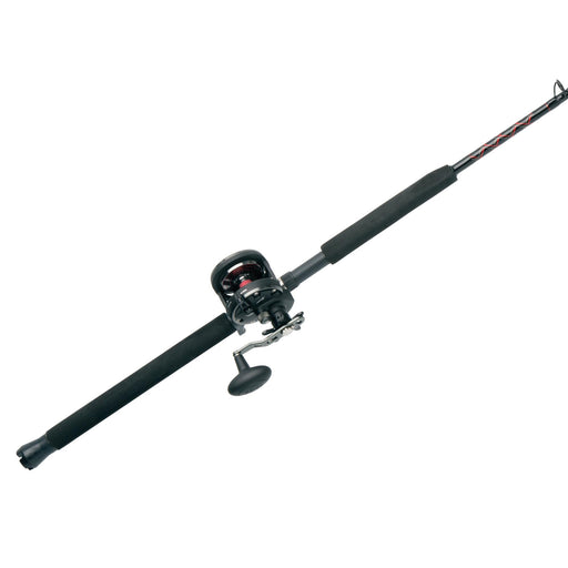 "Warfare Level Wind Conventional Combo - 20N, 5.1:1 Gear Ratio, 15 lb Max Drag, 6'6"" 1pc Rod, Medium-Heavy, Right Hand"