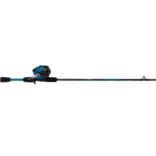 "Shakespeare Amphibian Spincast Combo - 10, 0 Bearings, 5'6"" Length, 2 Piece Rod, Medium, Blue, Right Hand"