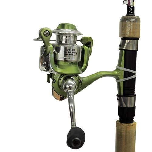 Fish Skins Rainbow Trout Combo 6', 2pc Rod, 5.2:1 Gear Ratio, Light Power
