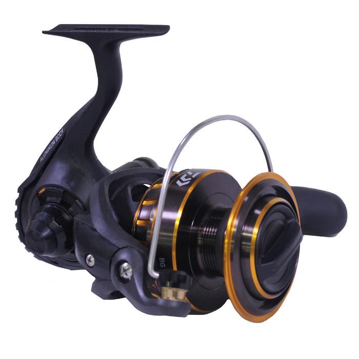 BG Saltwater Pre-Mounted Combo - 5000, 6 + 1 Bearing, Spinning, 10', 2 Piece, Medium Heavy