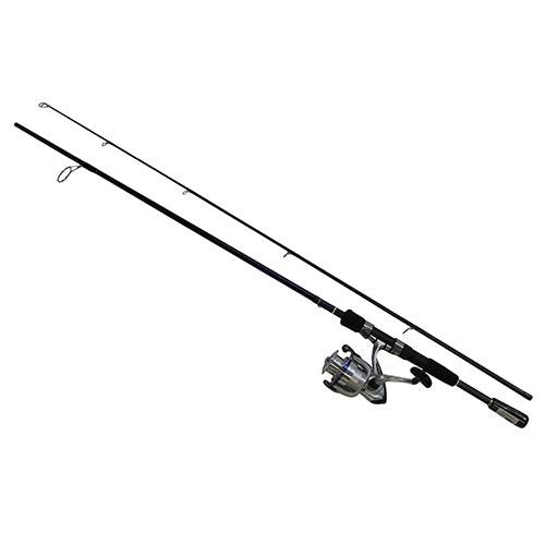 "D-Shock Freshwater Spinning Combo - 2 Bearings, 6'6"", Length, 2 Piece Rod, Medium Power, Fiberglass Blank Material"