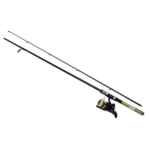 "Daiwa D-Shock Freshwater Spinning Combo - 2500, 6'6"" Length, 2 Piece Rod, 6-14 lb Line Rating, Medium Power"