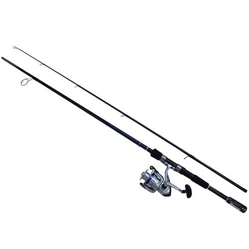 D-Shock Freshwater Spinning Combo - 2 Bearings, 7' Length, 2 Piece Rod, Medium Power, Fiberglass Blank Material