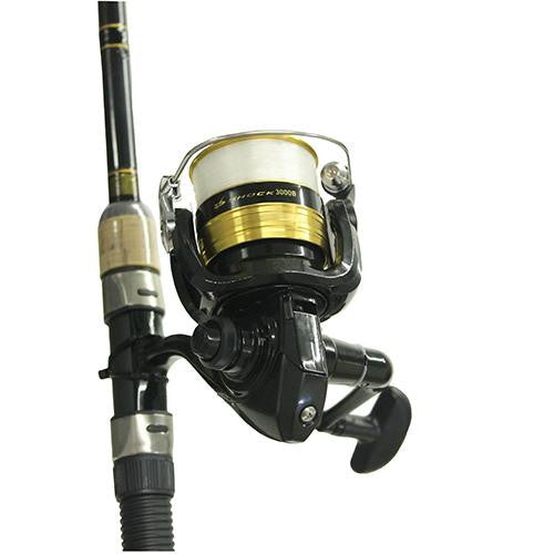 Daiwa D-Shock Freshwater Spinning Combo - 3000, 7' Length, 2 Piece Rod, 6-14 lb Line Rating, Medium Power