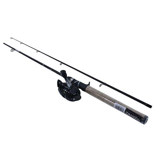 Daiwa D-Turbo Spincast PMC Combo - 4.3:1 Gear Ratio, 6' Length, 2pc Rod, 8-16 lb Line Rating, Medium Power
