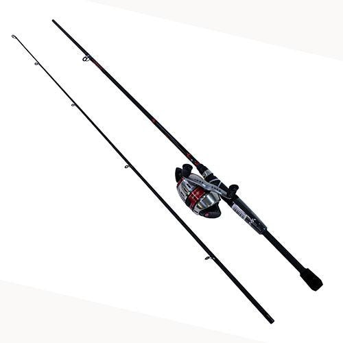 "Daiwa D-Turbo Spincast PMC Combo - 5.5:1 Gear Ratio, 6'6"" Length, 2pc Rod, 10-20 lb Line Rate, Medium-Heavy Power"