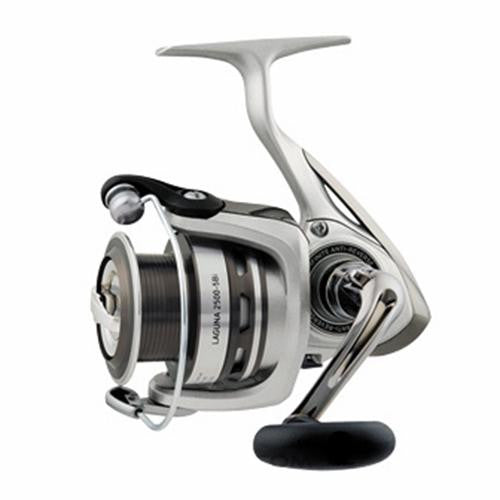 "Daiwa Laguna 5BI Spinning Reel - 2500, 5.3:1 Gear Ratio, 6 Bearings, 31.1"" Retrieve Rate, 8.80 lb Max Drag, Clam"