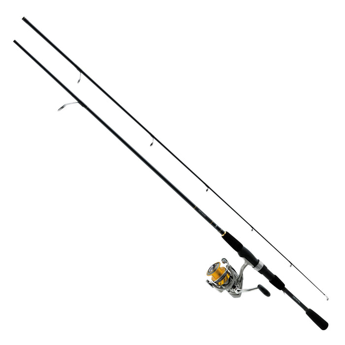 "Revros Freshwater Spinning Combo - 5 Bearings, 8'6"" Length, 2 Piece Rod, Medium Power"