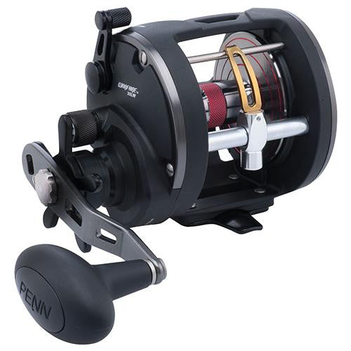"Penn Warfare Level Wind Conventional Reel - 30 Reel Size, 3.9:1 Gear Ratio, 27"" Retrieve Rate, 3 Bearings, Left Hand"
