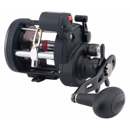 "Penn Warfare Level Wind Conventional Reel - 30 Reel Size, 3.9:1 Gear Ratio, 27"" Retrieve Rate, 3 Bearings, Right Hand"