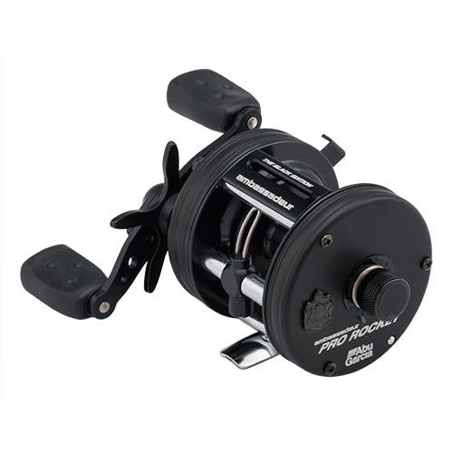 "Abu Garcia Ambassadeur Pro Rocket BE Baitcast Reel - 6500, 5.3:1 Gear Ratio, 5 Bearings, 26"" Retrieve Rate, Left Hand"