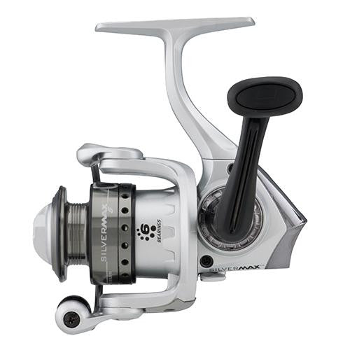 "Abu Garcia Silver Max Spinning Reel - 40, 5.1:1 Gear Ratio, 6 Bearings, 29"" Retrieve Rate, Ambidextrous, Boxed"