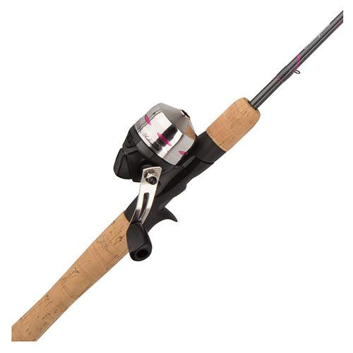 Shakespeare LadyFish Spincast Combo - 6' Length, 2 Piece Rod, 6-12 lb Line Rating, Medium Power