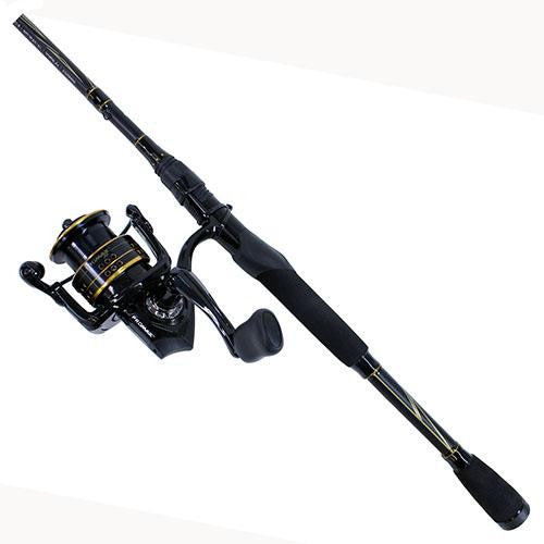 Abu Garcia Pro Max Spinning Combo - 30, 5.1:1 Gear Ratio, 7' Length, 1 Piece Rod, 6-12 lb Line Rate, Medium Power