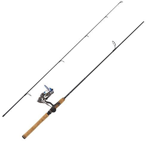 "Eagle Claw Diamond Series Graph Combo - 2 Piece, 6'6"", Medium Power, Graphite Rod and Reel Spinning Combo, 4+1 Bearing"