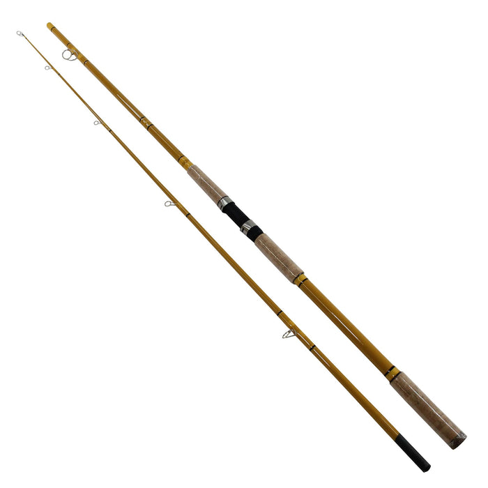 Crafted Glass Spinning Rod - 11' Length, 2 Piece Rod, 14-40 lb Line Rate, 1.5-5 oz Lure Rate, Heavy Power