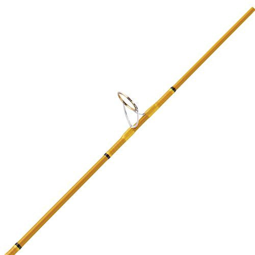 Eagle Claw Crafted Glass Spinning Rod - 6' Length, 2 Piece, Gold Glass, Medium