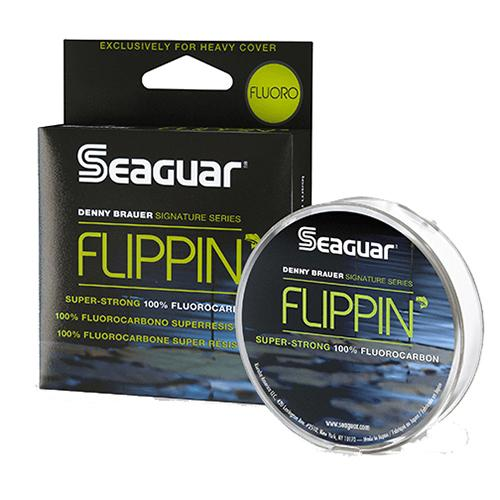 "Flippin' Fluoro Freshwater Fluorocarbon Line - .019"" Diameter, 30 lb Tested, 100 Yards, Clear"
