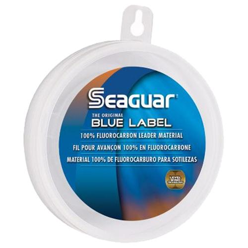 "Blue Label Saltwater Fluorocarbon Line - .029"" Diameter, 60 lb Tested, 25 Yards, Clear"