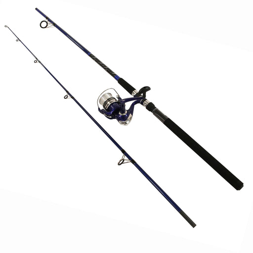 Fin-Chaser Spinning Combo - 65 Reel Size, 10' Length, 2 Piece. 1-3 opz Lure Rating. Ambidextrous