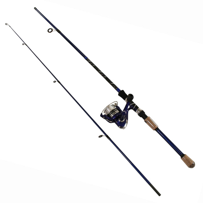 Fin-Chaser Spinning Combo - 30 Reel Size, 6' Length, 2 Piece, 1-8-3-8 oz Lure Rating, Ambidextrous