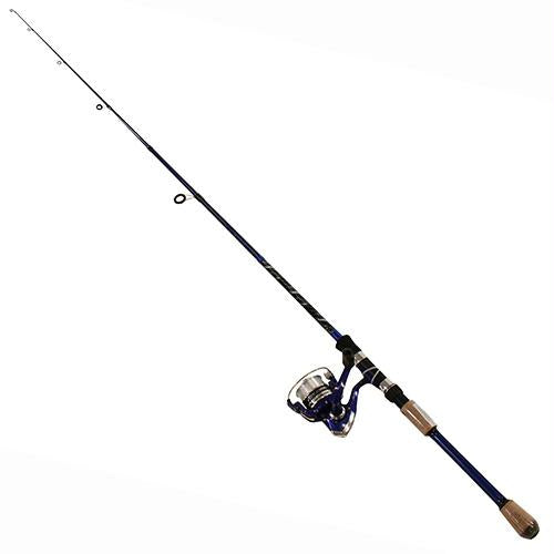 "Fin-Chaser Spinning Combo - 30 Reel Size, 6'6"" Length, 2 Piece, 1-8-1-2 oz Lure Rating, Ambidextrous"