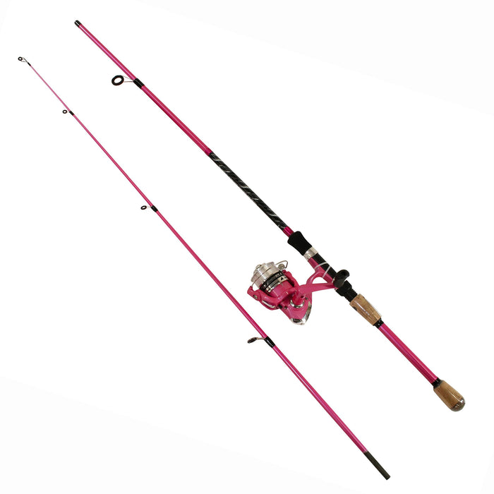 "Fin-Chaser Spinning Combo - 30 Reel Size, 1BB Bearings, 6'6"" Length 2pc, 1-8-1-2 oz Lure Rate, Ambidextrous"