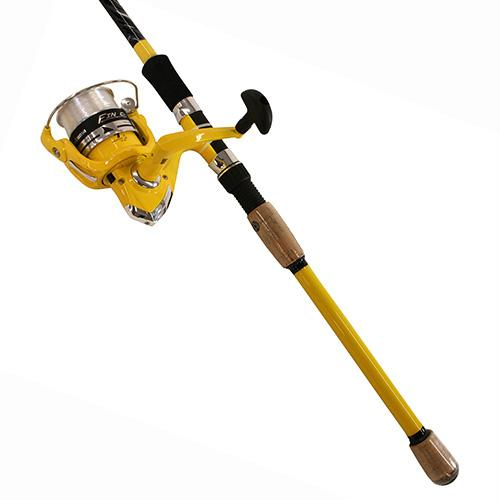"Fin-Chaser Spinning Combo - 40 Reel Size, 1BB Bearings, 7'6"" Length 2pc, 1-4-3-4 oz Lure Rate, Ambidextrous"