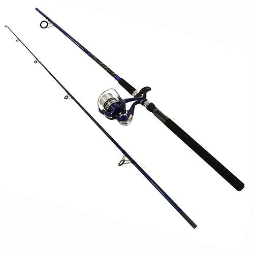Fin-Chaser Spinning Combo - 40 Reel Size, 8' Length, 2 Piece, 1-2-1 1-2 oz Lure Rate, Medium-Heavy Power